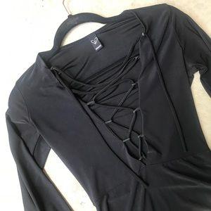 Windsor Tops - Black lace up bodysuit